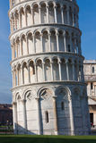 Base detail of Leaning tower of Pisa, Italy. A UNESCO World Heritage Site and one of the most recognized buildings in the world, the Leaning Tower of Pisa (torre royalty free stock images
