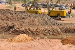 Base di area di lavoro della costruzione Fotografia Stock