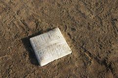 Base di baseball e sporcizia dell'infield Fotografie Stock Libere da Diritti