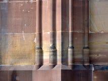 Base di colonna della muratura di pietra Immagine Stock