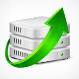 Base di dati con la freccia Fotografia Stock