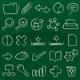 Base di dati delle icone del pastello (vettore) Immagine Stock