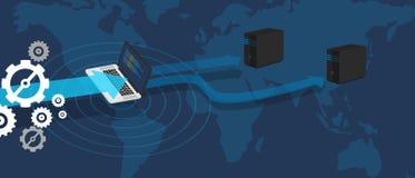 Base di dati di rete virtuale di distribuzione del server Fotografie Stock Libere da Diritti