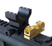 Base di portata del fucile controllata il livello fotografie stock libere da diritti