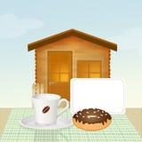 Base - e - prima colazione Immagine Stock