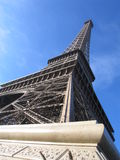 The base of the Eiffel tower. Stock Photos