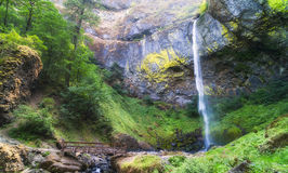 Base of Elowah Falls in the Columbia River Gorge Stock Image