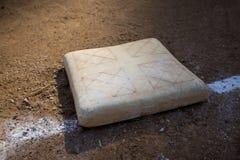 Base en campo de béisbol Fotos de archivo libres de regalías