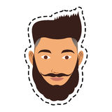 100 BASE. Face of handsome hipster young man icon image vector illustration design Royalty Free Stock Image
