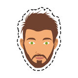 100 BASE. Face of handsome young man icon image vector illustration design Royalty Free Stock Image