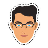 100 BASE. Face of handsome young man icon image vector illustration design Royalty Free Stock Photography