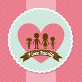 Base 50. Family design over dotted pink background, vector illustration Stock Photo