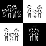 Base 50. Family design over white background, vector illustration Royalty Free Stock Photography