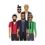 100 BASE. Fashionable and handsome young men icon image vector illustration design Stock Photos