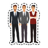 100 BASE. Fashionable and handsome young men icon image vector illustration design Stock Photo