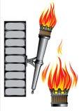 Base forjada antigua del fuego stock de ilustración