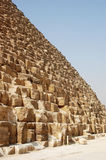The base of the Great Pyramid. The huge blocks at the base of the Great Pyramid Stock Image