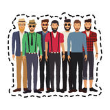 100 BASE. Group of young men  icon image vector illustration design Royalty Free Stock Photos