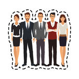 100 BASE. Group of young men and women icon image vector illustration design Royalty Free Stock Photo