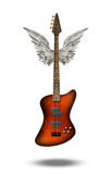 Base Guitar with wings. Base Guitar with mostly white wings Stock Photography