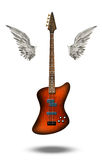 Base Guitar with wings. On White Stock Images