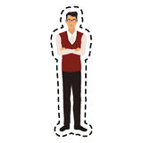 100 BASE. Handsome young man full body icon image vector illustration design Stock Photos