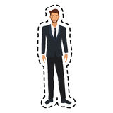 100 BASE. Handsome young man full body icon image vector illustration design Stock Images