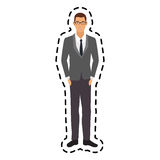 100 BASE. Handsome young man full body icon image vector illustration design Stock Photography