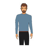 100 BASE. Handsome young man half body  icon image vector illustration design Stock Photography