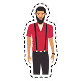 100 BASE. Handsome young man half body  icon image vector illustration design Royalty Free Stock Photography