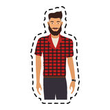 100 BASE. Handsome young man half body  icon image vector illustration design Royalty Free Stock Photos