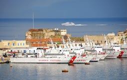 Base italiana della guardia costiera Immagine Stock Libera da Diritti