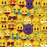 Popular and beautiful emoji background pattern. Icon cartoon set stock illustration