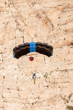 Base jump in shipwreck beach of Zakynthos island Stock Photography