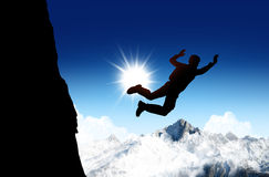 Base jump and sky Stock Images
