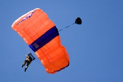 Base Jumping. Image of a daring base jumper in action Royalty Free Stock Photography