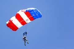 Base Jumping. Image of a daring base jumper in action Royalty Free Stock Images