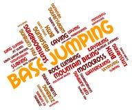 Base Jumping Indicates Word Parachuting And Text Stock Photography