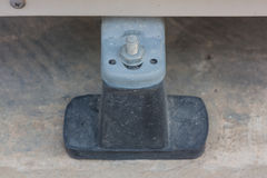 The base is made of black rubber of the air conditioning compressor. Royalty Free Stock Images