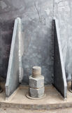 Base metal pillar Stock Photo