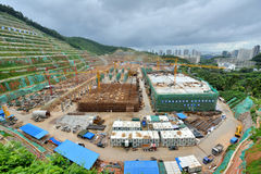 Base of Metro construction, Shenzhen, China Stock Image