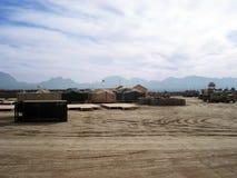 Base militaire en Afghanistan Images libres de droits