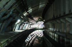Base militaire soviétique abandonnée des sous-marins Photographie stock libre de droits