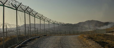 Base militar Afeganistão imagem de stock