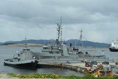 Base militar la Argentina naval Ushuaia Fotos de archivo