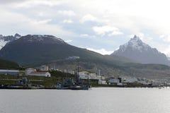 Base militar la Argentina naval Ushuaia Imagen de archivo