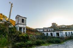 A base militar velha - Baiona foto de stock