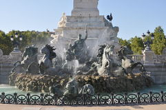 Base of Monument des Girondins in Bordeaux, France Stock Images