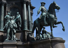 Base of the monument to Maria Theresa, Vienna Stock Image