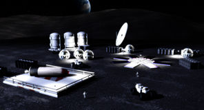 base moon royaltyfri foto